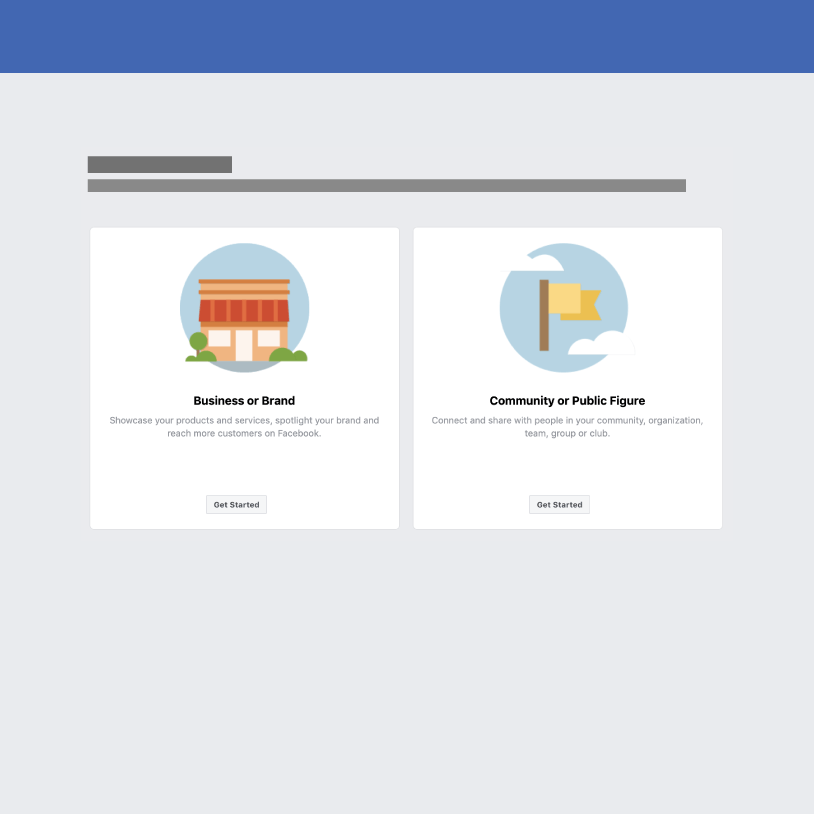 facebook business page setup step 1